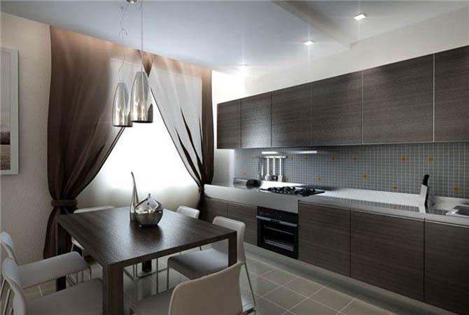 интерьер квартиры в черном глянце