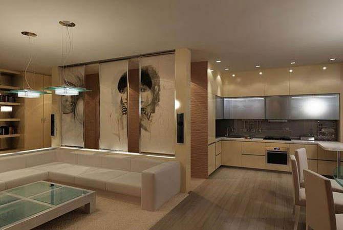 интерьер 20-ти метровой жилой комнаты фото