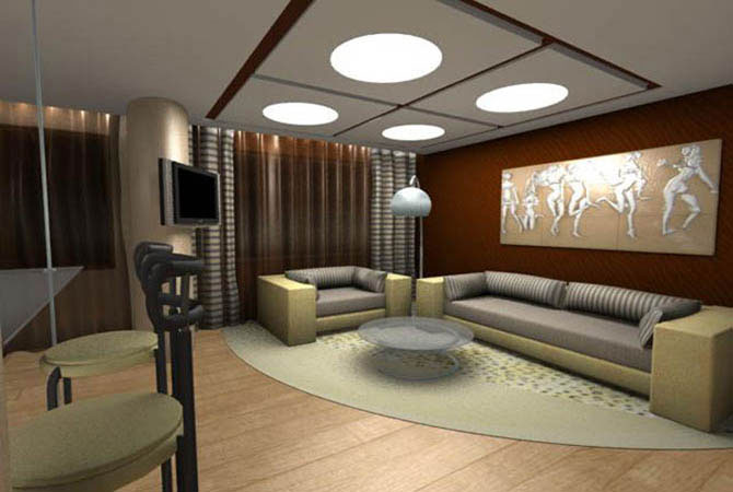 дизайн и интерьер каминной комнаты и библиотеки