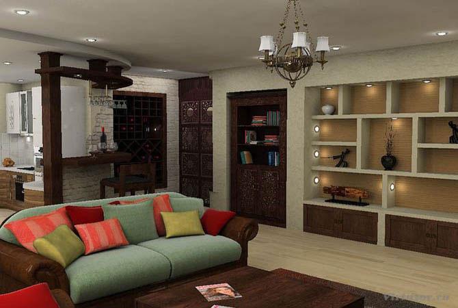 как составить дизайн интерьер комнаты35м2личнос помощью