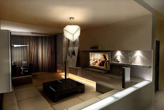 дизайн проект 1 комнатной квартиры 38 квм