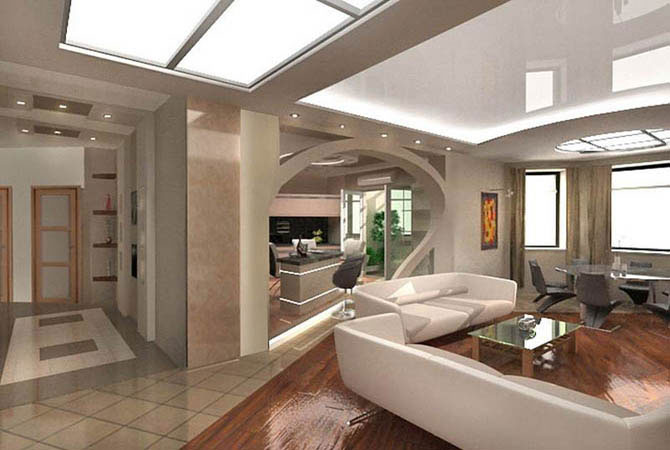 дизайн иинтерьер кухни и ванной комнаты