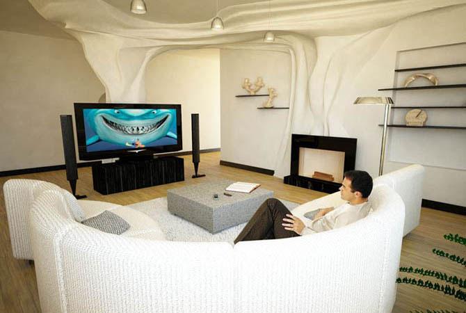 дизайн интерьер загороднго дома