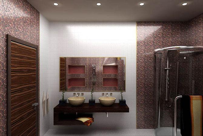 дизайн ванной комнаты душевая кабина