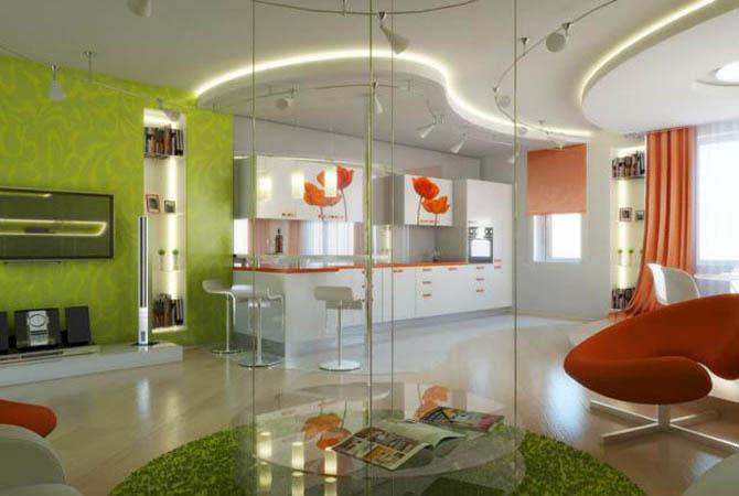 дизайн ванных комнат в оранжевой гамме