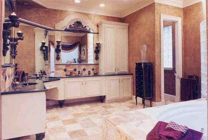 дизайн ванной комнаты с круглой мазаикой