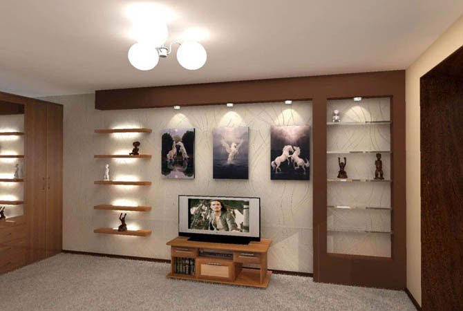 интерьер молодежной стильной комнаты