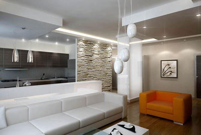 кирпичный двухэтажный дом отделка внутри