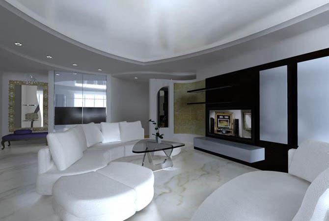 интерьер квартир отделан декоративным камнем