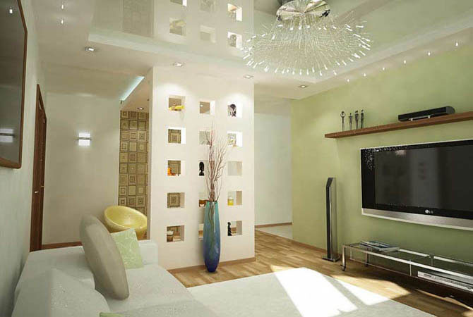 дизайн интерьера в двух комнатной квартире