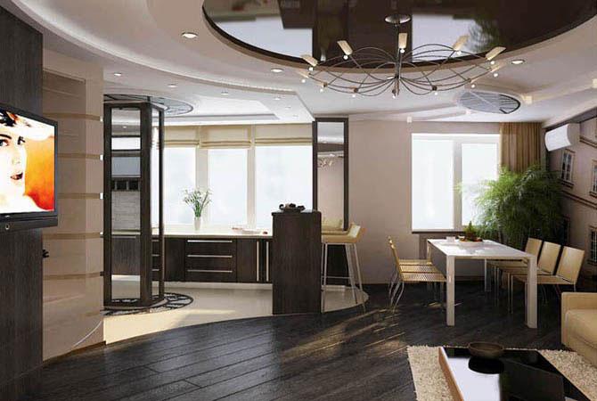 ремонт в квартире-подвесные потолки