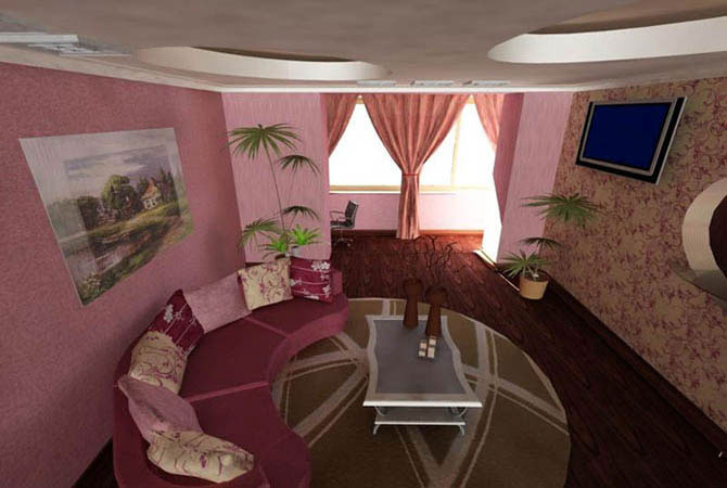 дизайн квартиры цвет обоев