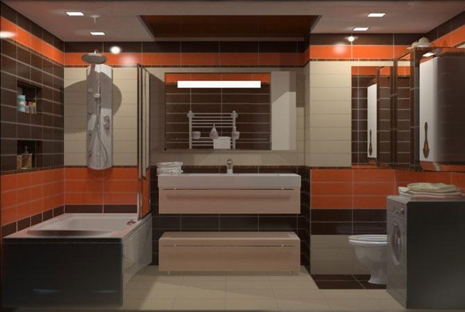 дизайн ванной комнаты малой площади