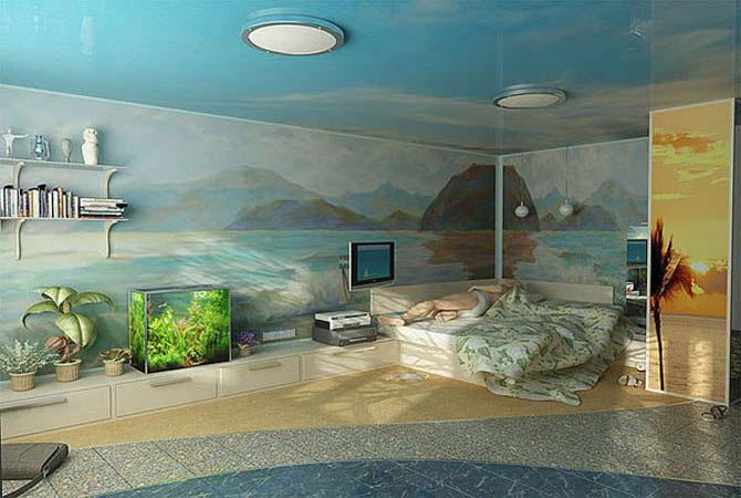 пример дизайна кухни в однокомнатной квартире