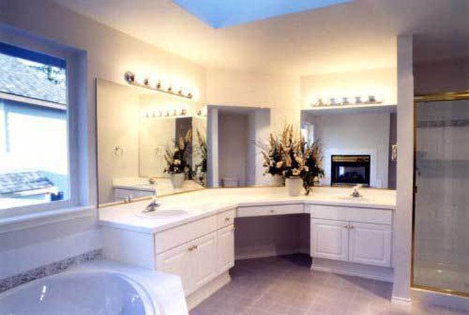 образец оформления интерьера ванной комнаты