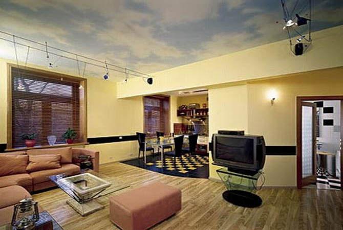 натяжные потолки в квартире дизайн