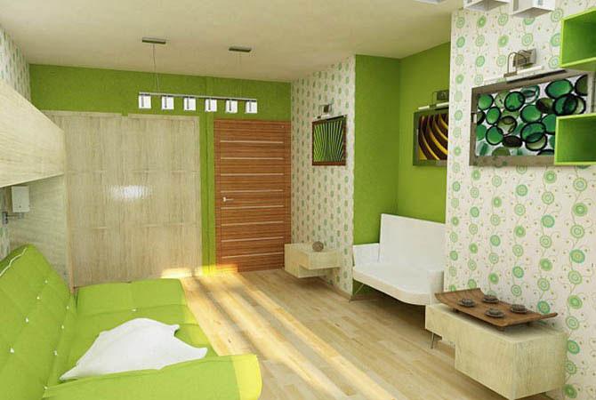дизайн интерьера квартиры обои