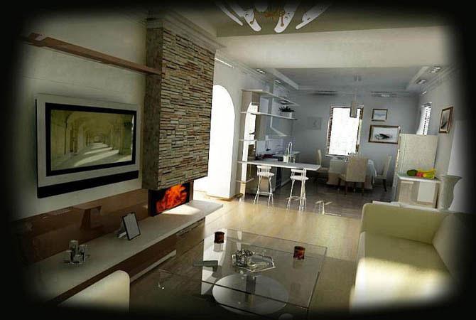 дизайнерский проект двухуровневой квартиры