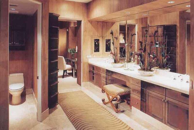 дизайнинтеръер кухни и ванной комнаты