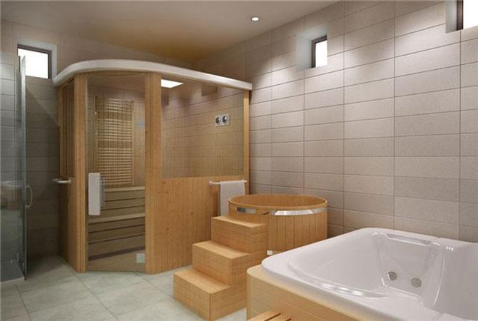 интерьер кухни ванной комнаты